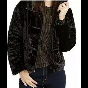 Michael Kors velvet puffer jacket black XS